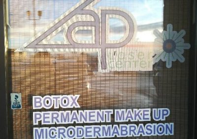 Zap Laser Center Signage